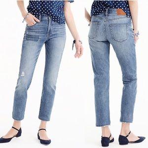 J Crew Vintage Crop Boyfriend Jeans Patchwork 29